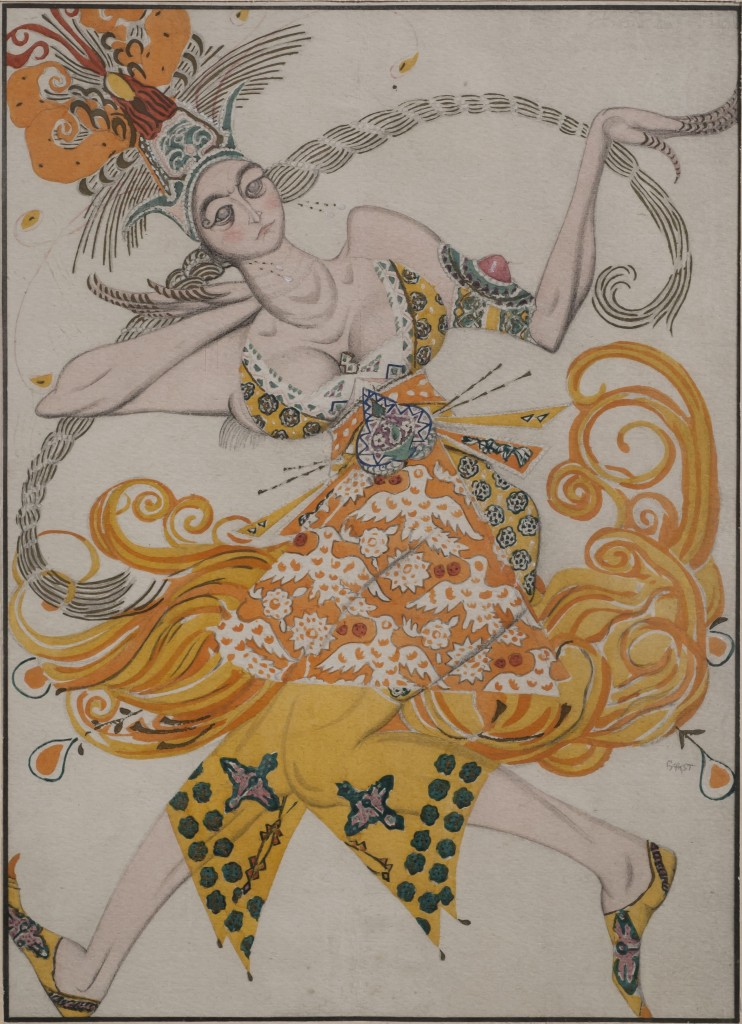 Leon Bakst, Costume design for the ballet The Firebird, Gouache stencil on paper, 1/50, 21 x 15 cm. 1910  £25,000