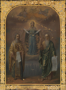 608. THE POKROV WITH ST ANDREW OF CRETE AND THE PROPHET HOSEA 1888, 84 STANDARD. 40,000–60,000 GBP
