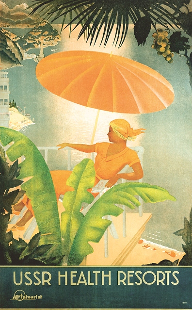 Maria Nesterova. USSR Health Resorts, 1930s. Courtesy of GRAD: Gallery of Russian Arts and Design and Antikbar.co.uk