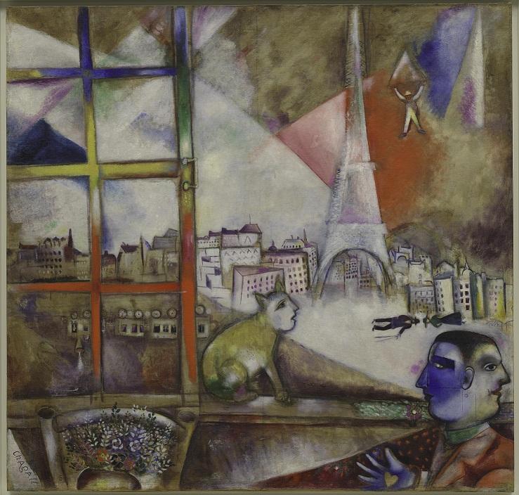 Marc Chagall Paris Through the Window 1913. © ADAGP Paris and DACS, London 2013