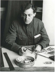 Aleksei Gan, 1924. Photograph by Aleksandr Rodchenko, The A. Rodchenko & V. Stepanova Archive, Moscow. (Scan from the book)