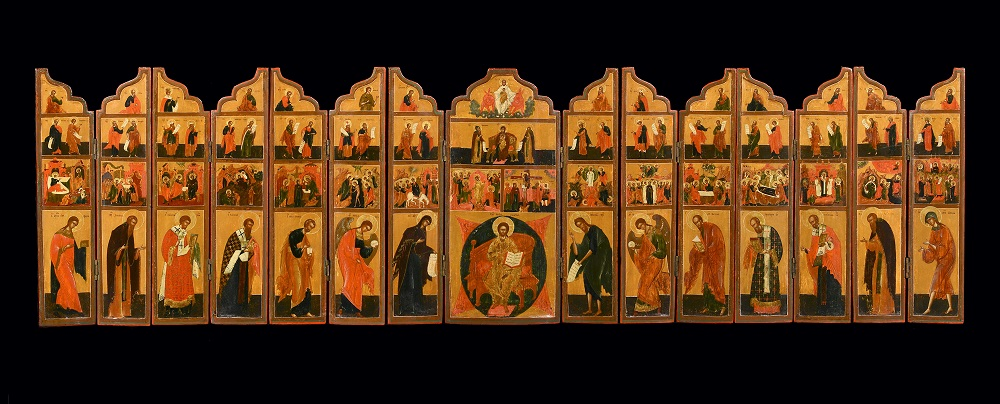 Rare 19th century Travelling Iconostasis, Russia, Old Believers Workshop / Courtesy of Jan Morsink Ikonen