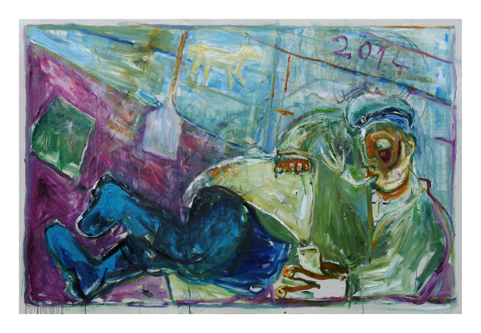 Relaxing Soldier, after Larionov by Childish Adams / Courtesy of Pushkin House