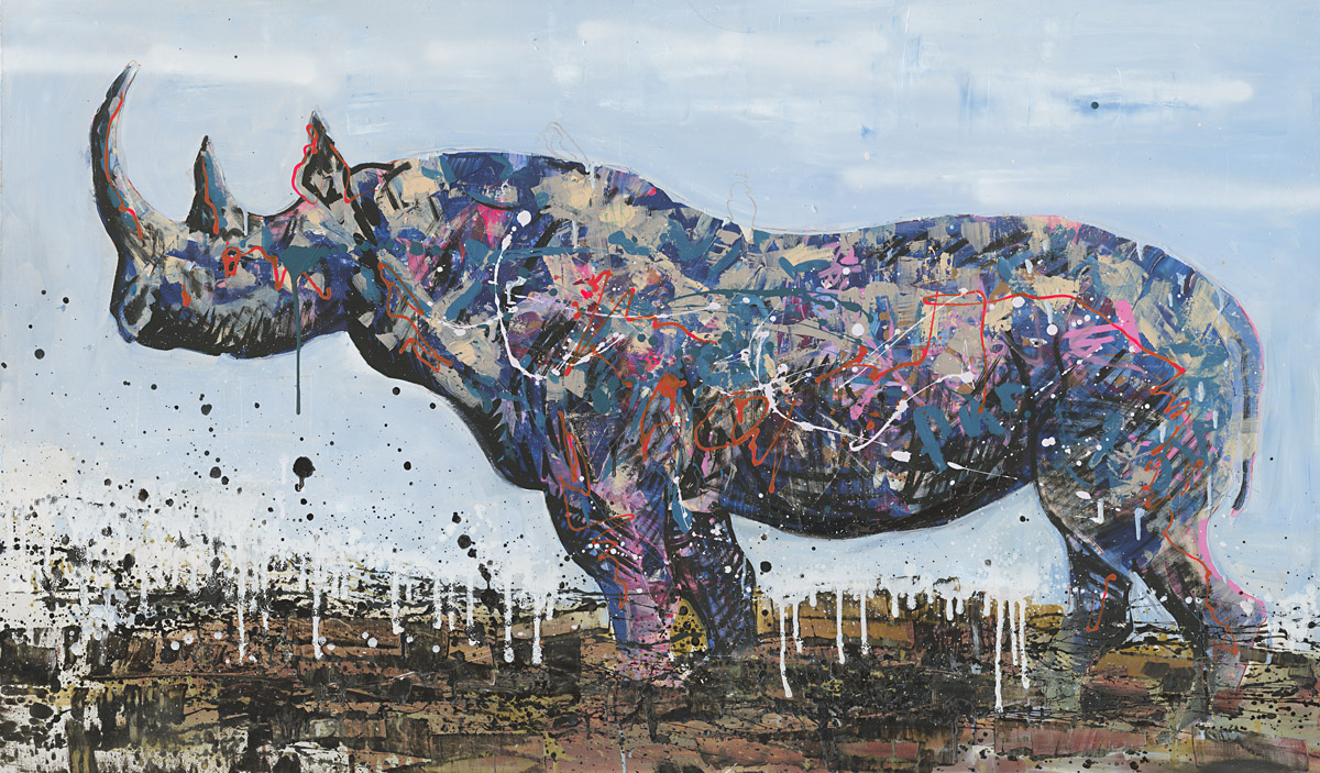 Grafitti fine art 2015 - Ceratotherium Simum Courtesy Of Erarta Galleries London
