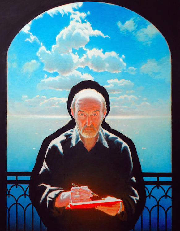 Erik Bulatov, Self-portrait, 2011 / Courtesy of 3 Grafton Street gallery