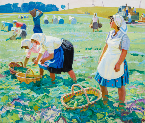 Tatiana Yablonskaya, Cucumber harvest (1966) / Courtesy of Art Russe