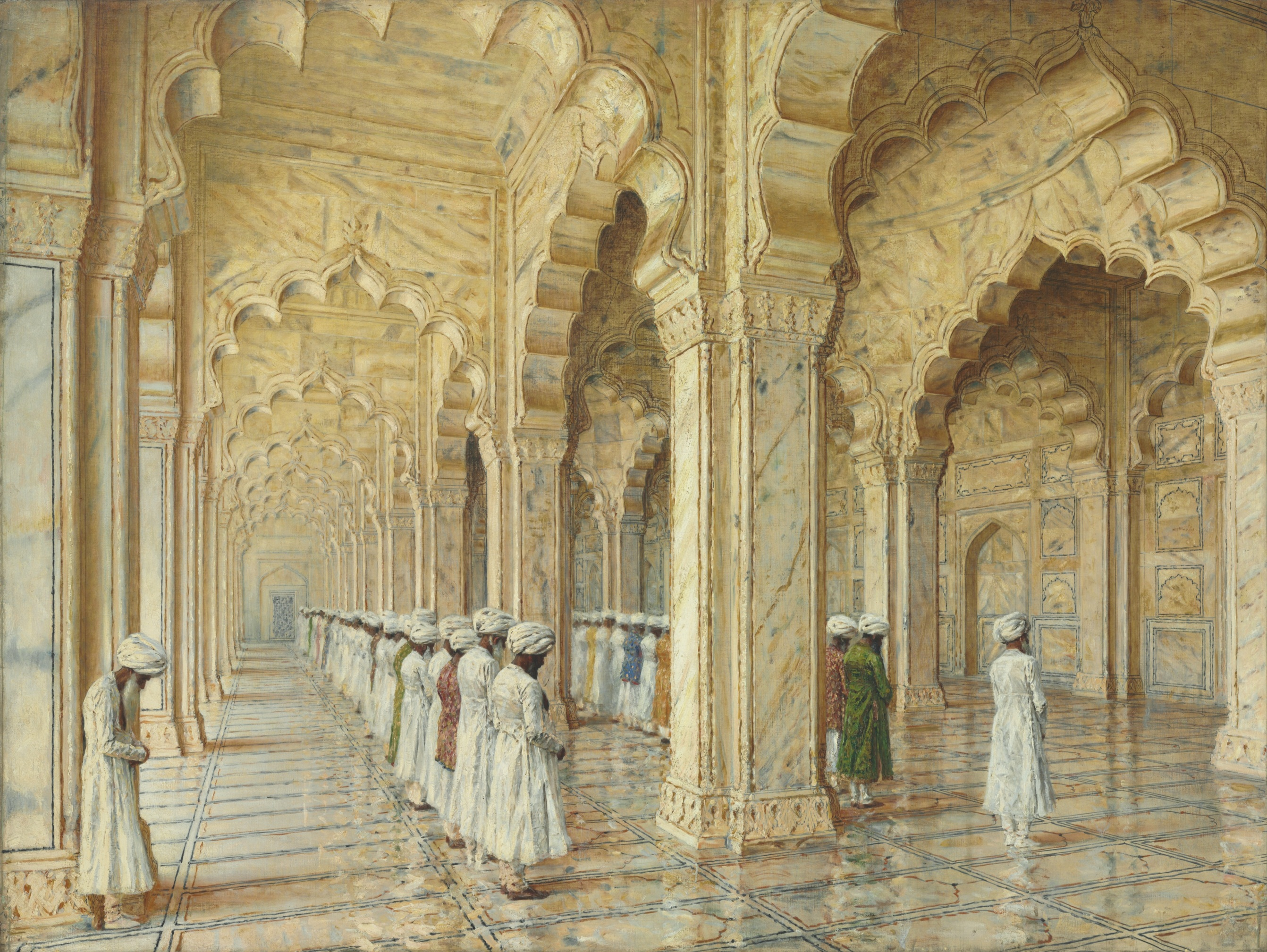 Vasily-Vereshchagin-Pearl-Mosque-at-Agra-Courtesy-of-Christies