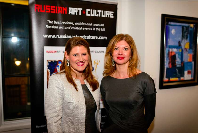 Theodora Clarke and Katya Zenkovich / Russian Art Week Opening at The Corinthia Residences. Photography by Ed Lloyd Owen. Courtesy of Russian Art and Culture