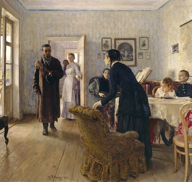 Ilya Repin, Unexpected Return, 1884–1888 / Courtesy of The State Tretyakov Gallery