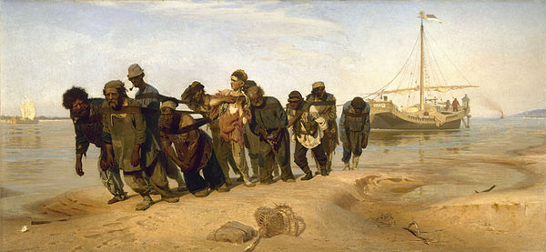 Ilya Repin, Barge haulers on the Volga, 1873 / Courtesy of The State Russian Museum