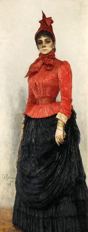 Ilya Repin, Portrait of Baroness Varvara Ivanovna Ikskul von Hildenbandt, 1889 / Courtesy of The State Tretyakov Gallery