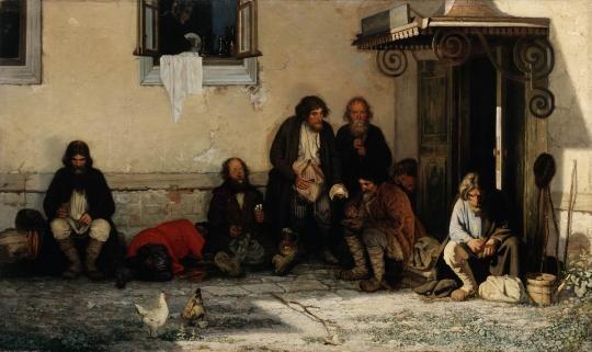 Grigory Myasoedov, The Zemstvo Dines, 1872 / Courtesy of The State Tretyakov Gallery