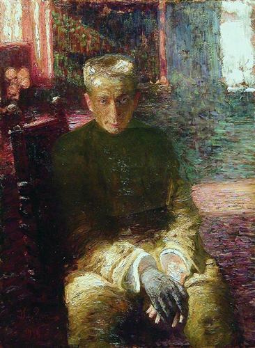 Ilya Repin, Portrait of Alexander Kerensky, 1918 / Courtesy of Wikiart.org