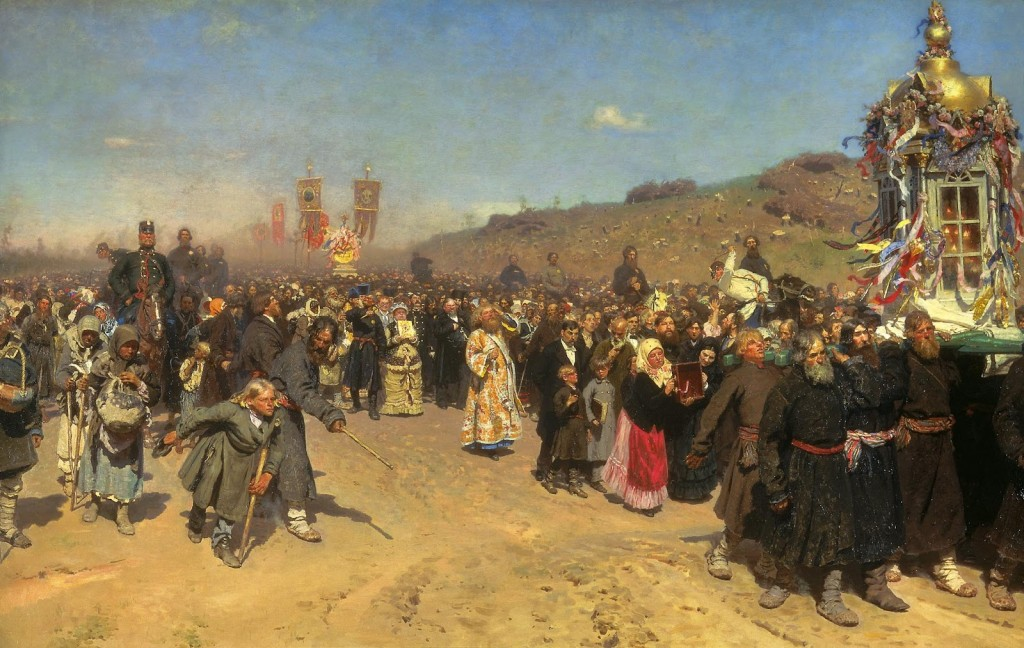 Ilya Repin, Religious Procession in Kursk Province, 1880-1883 / Courtesy of The State Tretyakov Gallery