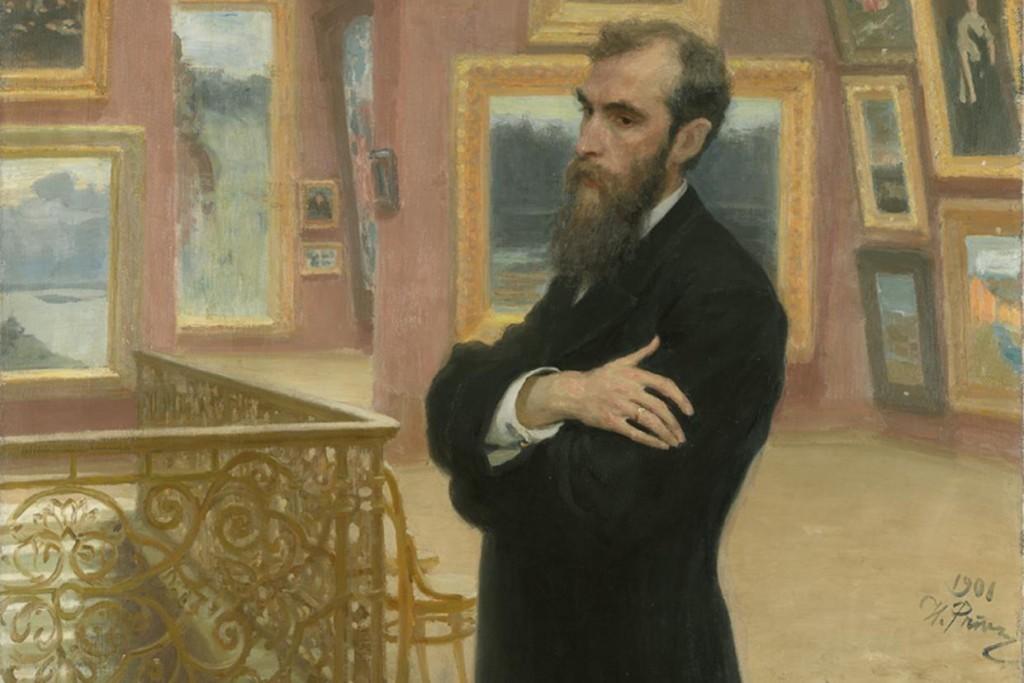 Portrait of Tretyakov by Ilya Repin, 1883 / Courtesy of the Tretyakov Gallery