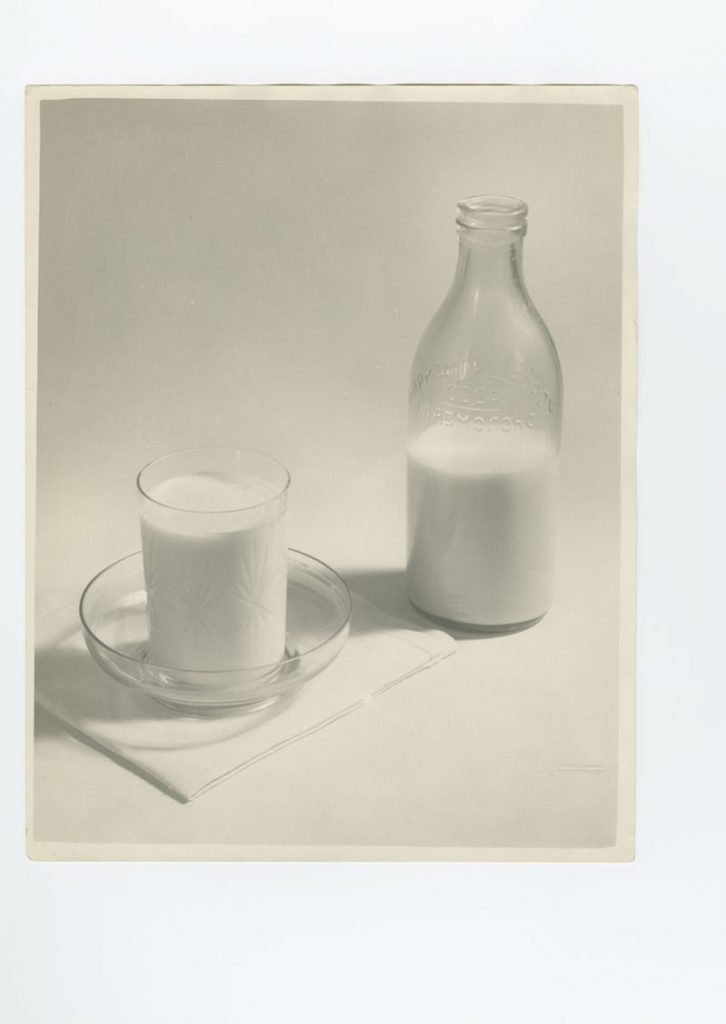 Alexander Khlebnikov, Milk, gelatin silver print, photographed and printed c. 1930s, 30 by 23.5 cm. Estimate £1,500–2,000.