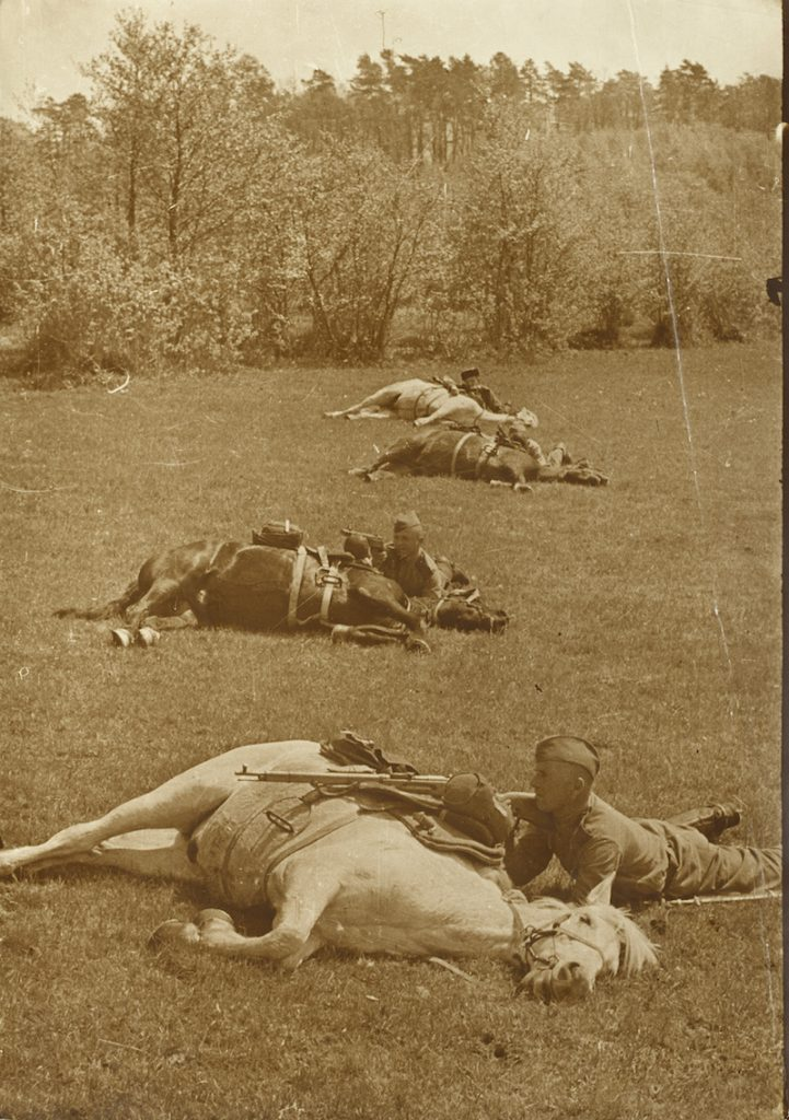 Boris Igantovich, Military Exercise, gelatin silver print, photographed and printed c. 1930s, 52.5 by 37.5 cm. Estimate: £2,000–3,000.