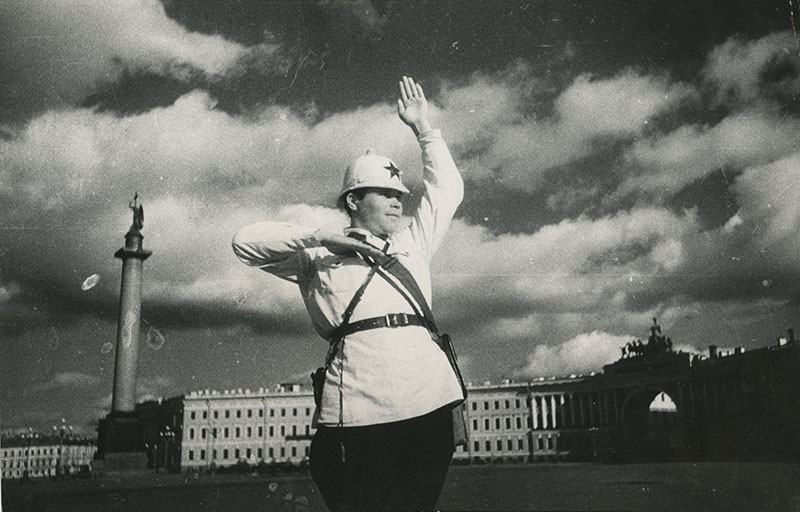 Dmitry Debabov, Traffic Controller in Leningrad, gelatin silver print, photographed and printed in 1935, 15 by 23 cm. Estimate: £1,500–2,000.