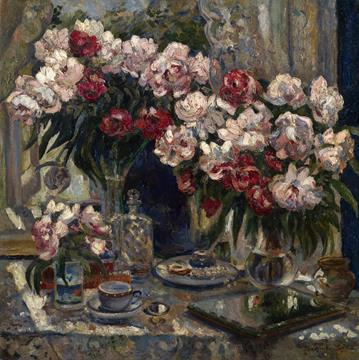 Alexander Gerasimov, Still Life with Peonies Sold for 475,836 USD / Courtesy of MacDougall's