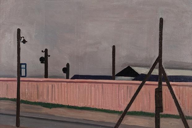 Mikhail Roginsky, Pink Fence (1963), was donated by Inna Bazhenova / Courtesy of The Art Newspaper