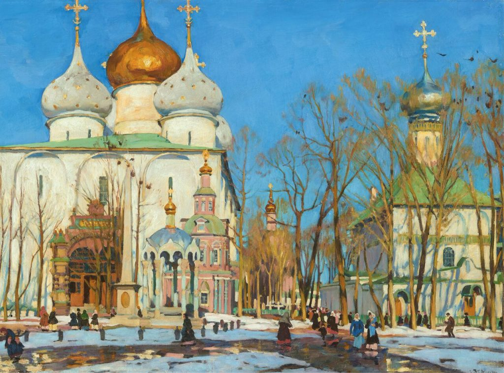 Konstantin Yuon, Domes and Swallows, 1921, The State Tretyakov Gallery, Moscow