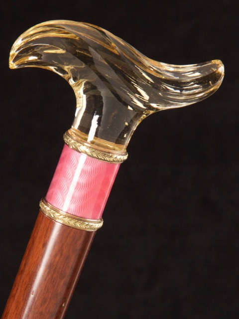 LPDF_16_Michael German Antiques Ltd_Faberge tau shaped handled walking cane_signed Michael Perchin_POA