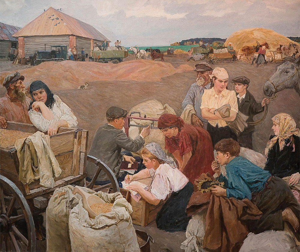 Arkady Plastov, On the Farm, 1947, Art Russe Collection, London