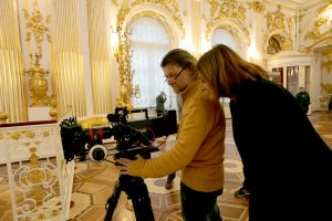 Director of Photography Maxim Tarasyugin & Margy Kinmonth. © Foxtrot Films