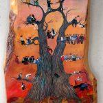 Family Tree. Mixed media on wood. Courtesy of Sima Vassilieva.