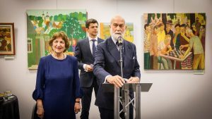 HRH Prince Michael of Kent Opens Exhibition of Young Russian Artists in London