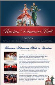 Russian Debutante Ball, Grosvenor House, Park Lane, 4 November