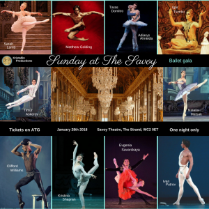 Sunday at The Savoy, Classical and Contemporary Ballet Gala, Savoy Theatre, 28 January