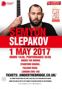Semyon Slepakov Charity Concert in aid of Gift of Life. 1st May