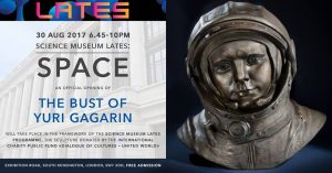 The Bust of the First Cosmonaut Yuri Gagarin to Be Installed at the Science Museum, London, 30 August