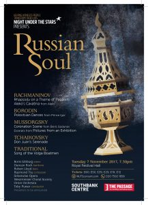 Russian Culture to Aid British Charity. The Passage Celebrates Russian Soul at the Royal Festival Hall, 7 November