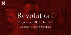Revolution! Russian piano and choral music of the 20th century. 28 October at St James's Church