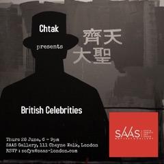 SAAS LONDON GALLERY OPENING: VAL CHTAK STUDIES BRITISH CELEBRITIES