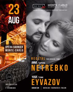 Anna Netrebko and Yusif Eyvazov to Perform in Opera Garnier in Monte-Carlo