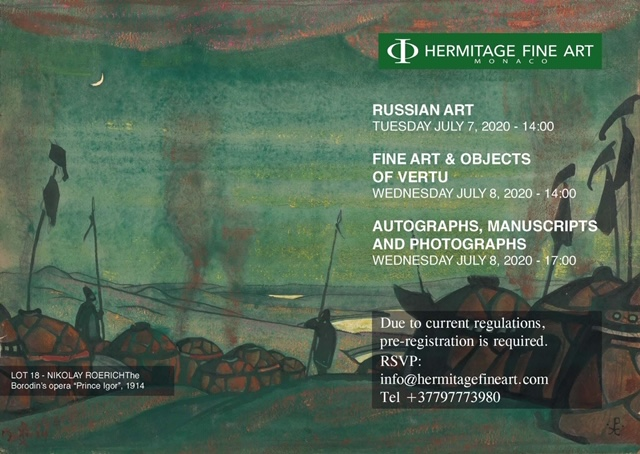 Hermitage Fine art Russian art sale 8 July 2020