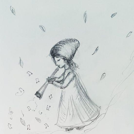 "Illustrating ""In the Fields"" by Alexander Gretchaninov"