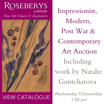 Roseberys London 9 December Impressionist, Contemporary, Modern Art Sale