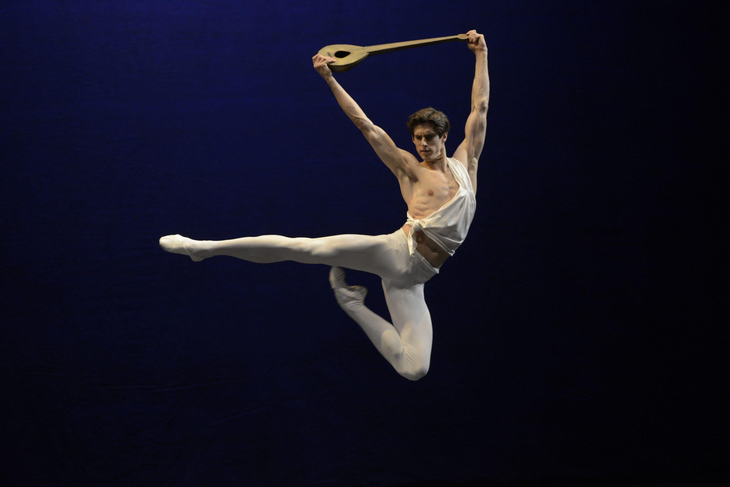 "Xander Parish in ""Apollo"" Ballet. Photo by Valentin Baranovsky © Maryynsky Theatre"